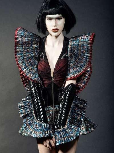Futuristic Fashion Model Royalty Free Stock Photos: Futuristic Warrior Fashion : Morfium Couture