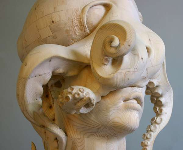 Human octopus hybrids morgan herrin - Video de sculpture sur bois ...