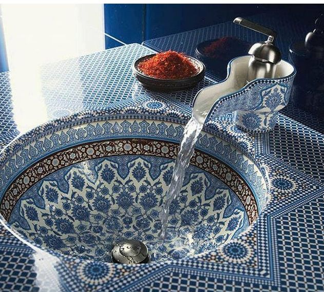 Modern Moroccan Sinks : Moroccan Sink