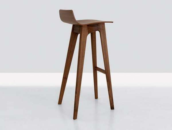 Long Stemmed Stools The Morph Bar Stool Is Wooden Perfection