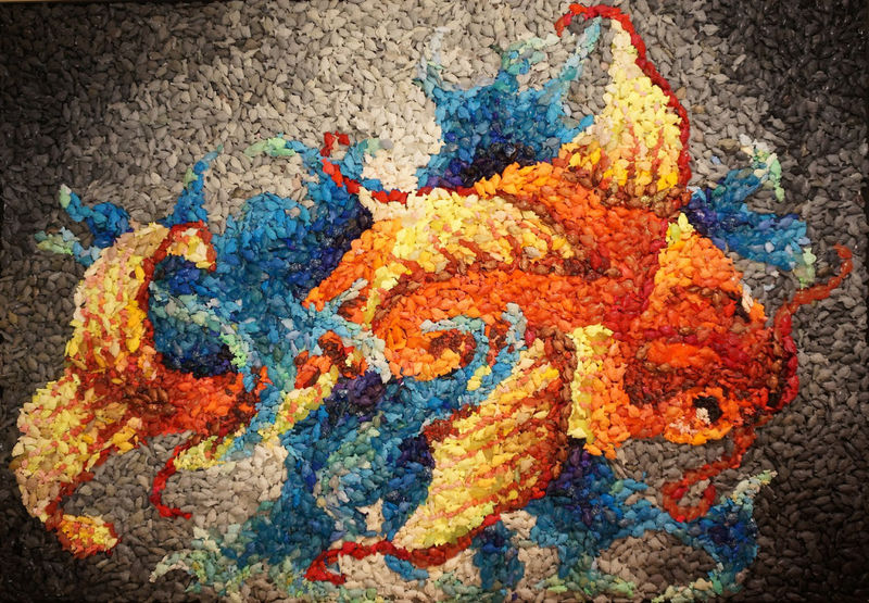 Multicolored Fish Mosaics