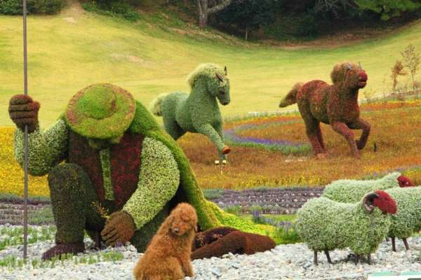 mosaiculture, living artwork