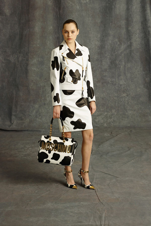 Bold Cow Printed Couture Moschino Pre Fall Collection