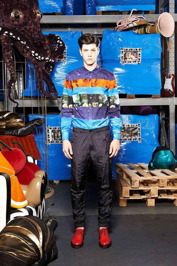 Edgy Photo-Fragmented Menswear