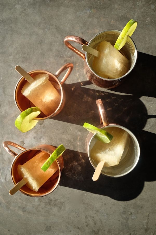 Gingery Cocktail Popsicles