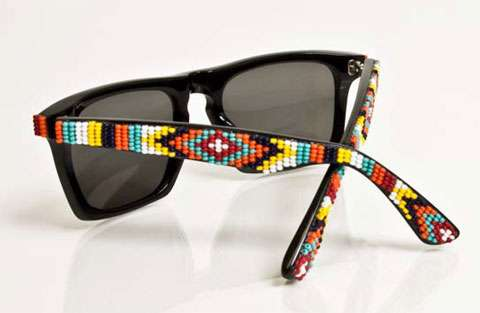 Beaded Sunglasses  tribal beaded sunglasses mosely tribes x oliver peoples