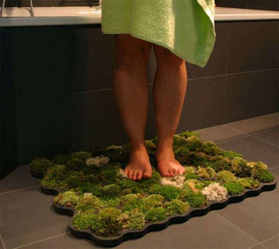 Green Mossy Bath Mats