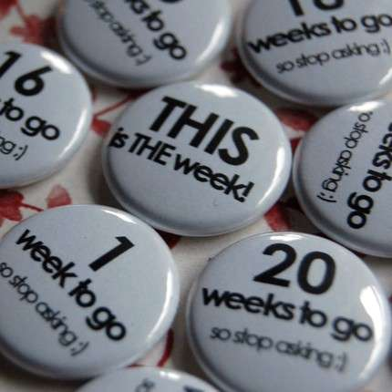 Mother To Be Countdown Pins