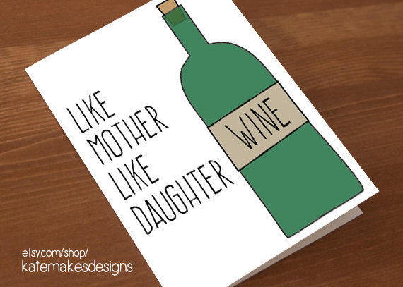 Wine-Loving Maternal Greetings