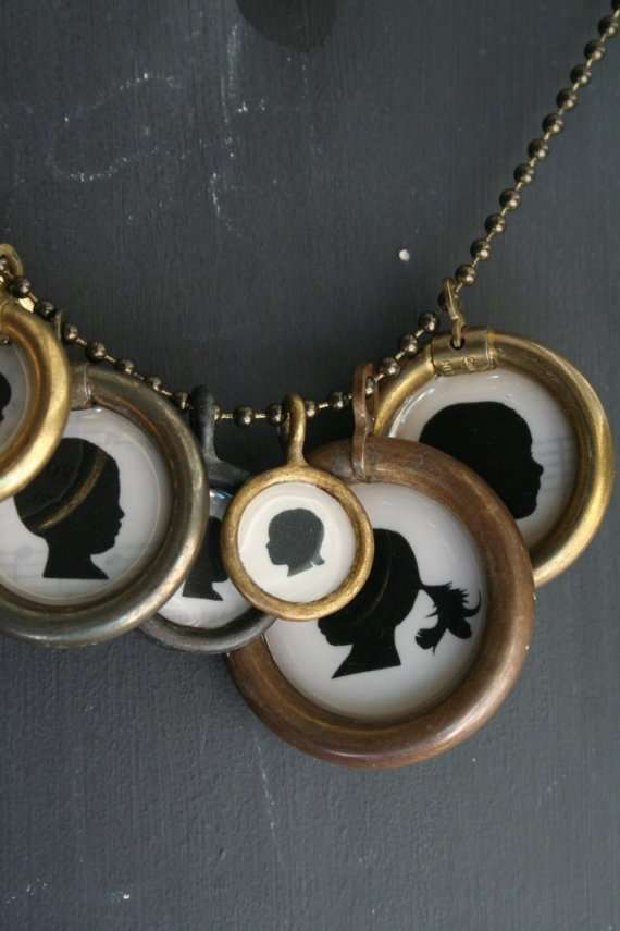 mothers day silhouette necklaces