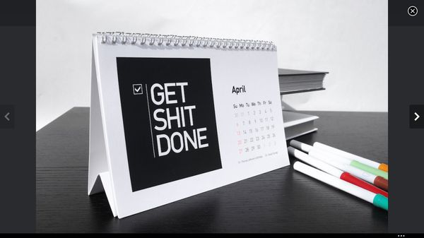 Cussing Motivational Calendars