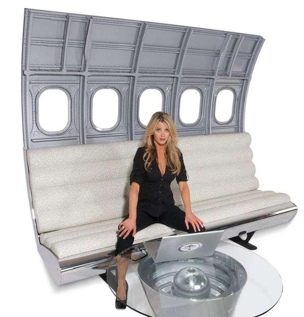 flight inspired furniture motoart fuselage bench seating
