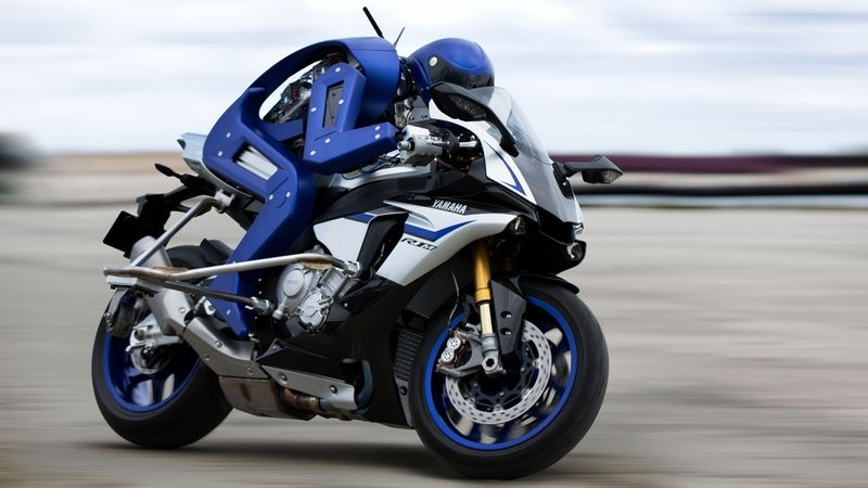 Motorbike-Riding Robots