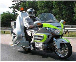 Motorcycle Tow Trucks Honda Goldwings Coming Through