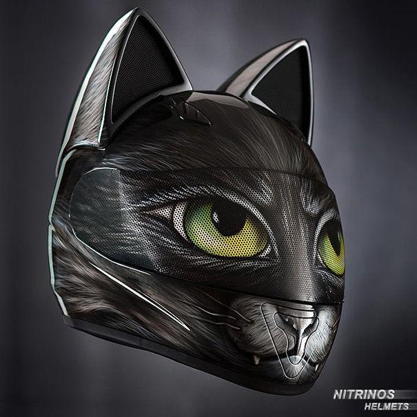 Feline Motorcycle Helmets
