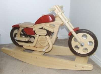 Wooden Motorcycle Rockers