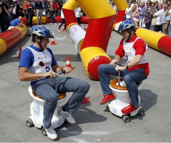 Motorized Toilet Bowl Races