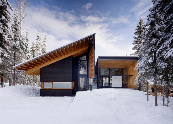 Angular Wooden Family Retreats