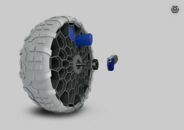Airless Mountainboard Wheels