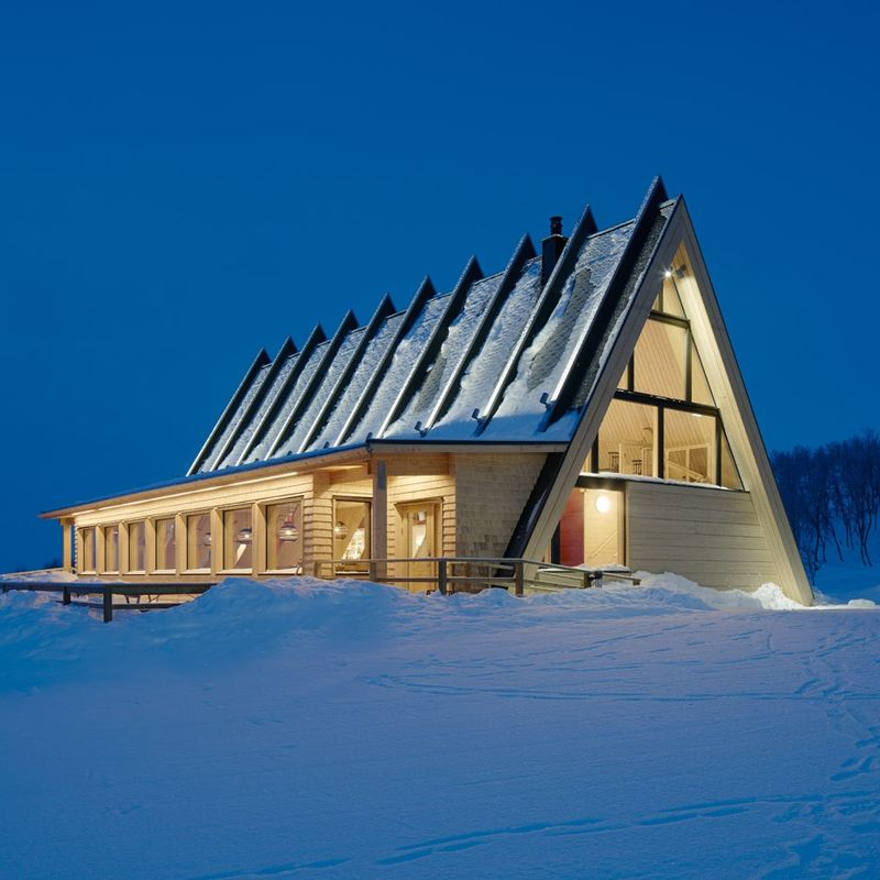 Tent-Shaped Alpine Restaurants