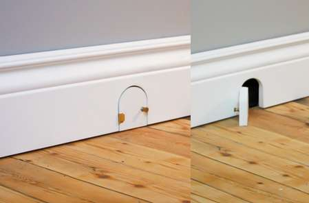 Rodent-Receiving Baseboards