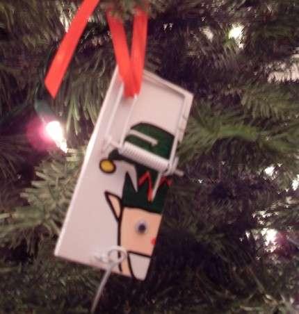 Mousetrap Ornaments