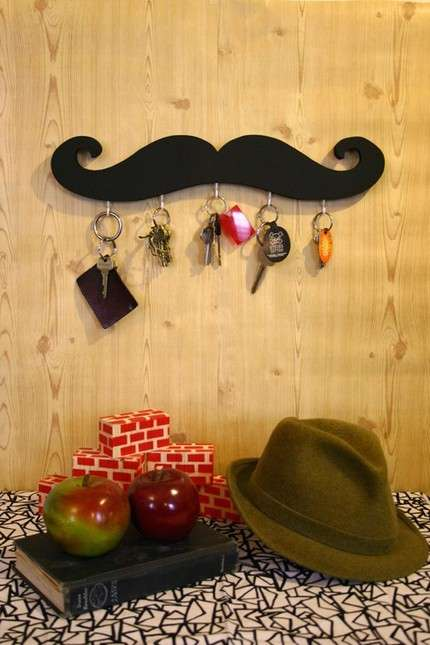 Moustache Key Hook