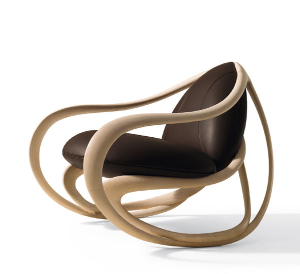 Sinuous Wood Rocking Chairs