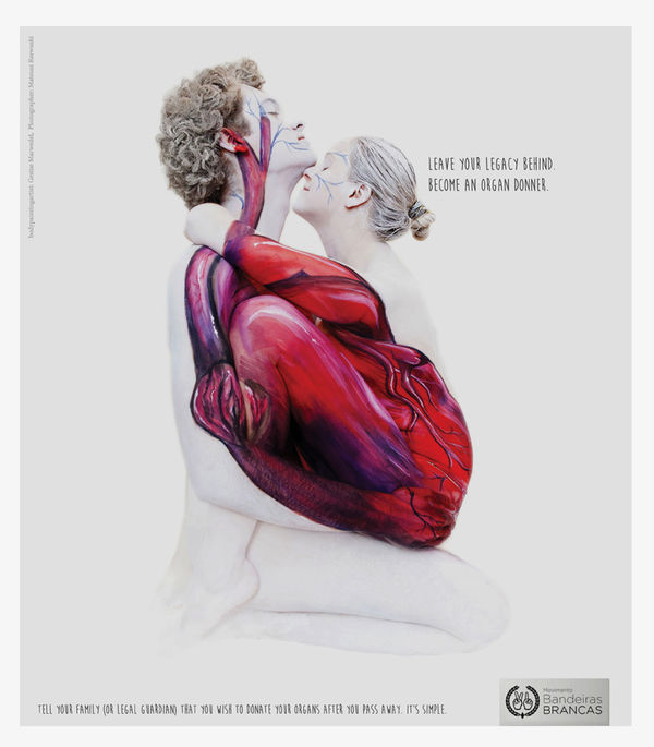 Body-Painted Donor Ads