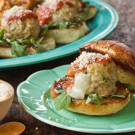 Mozzarella Meatball Sliders