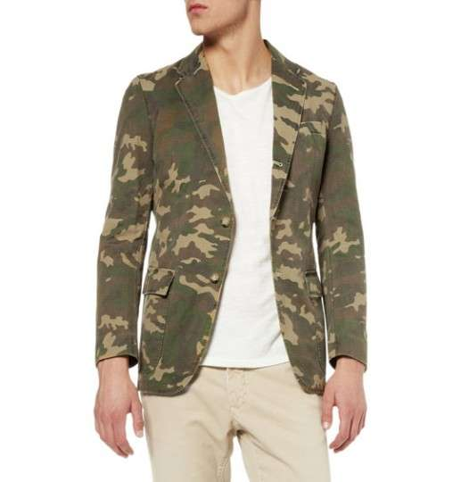 MR BATHING APE CAMOUFLAGE BLAZER