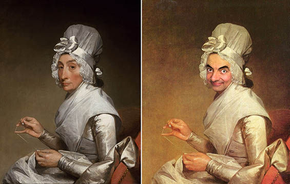 Photoshopped Comedian Paintings