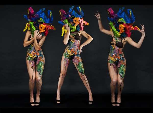 Prismatic Graffiti Bikinis