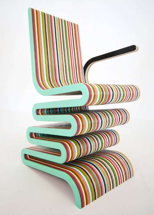 Bendy Rainbow Chairs