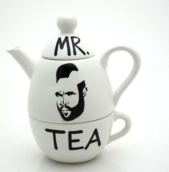 Mohawked Celeb Tea Sets