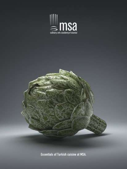 artistic veggie ads   msa culinary arts academy of istanbul