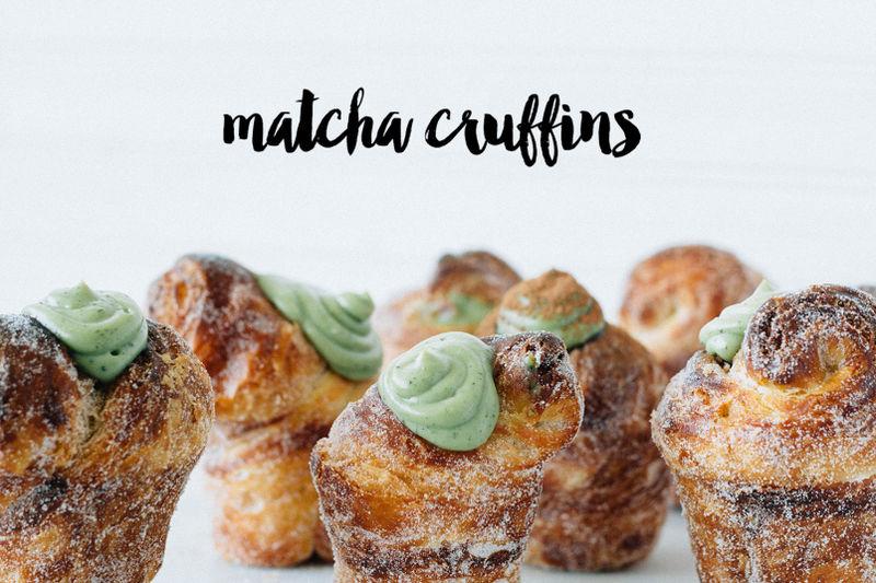 Matcha Croissant Muffins
