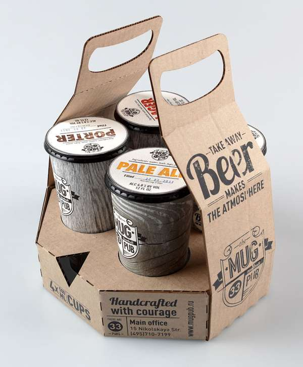 Cardboard Beer Branding