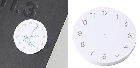 MUJI Clock Stickies Notepads