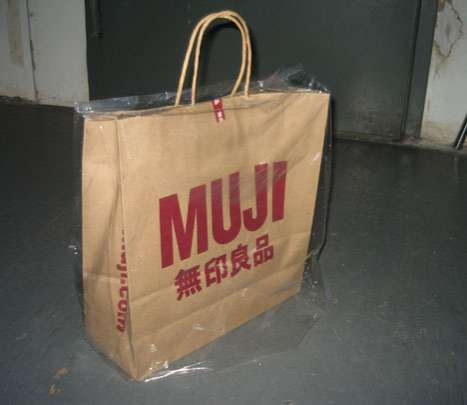 Muji weatherproof bag cover