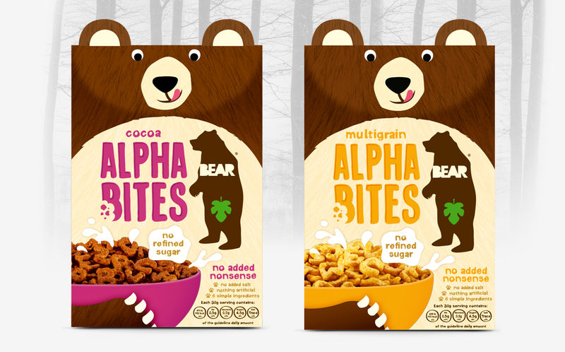 Bear-Inspired Cereal Packaging