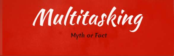 multitasking myth or fact infograph