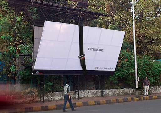 Seat Belt-Strapped Billboards