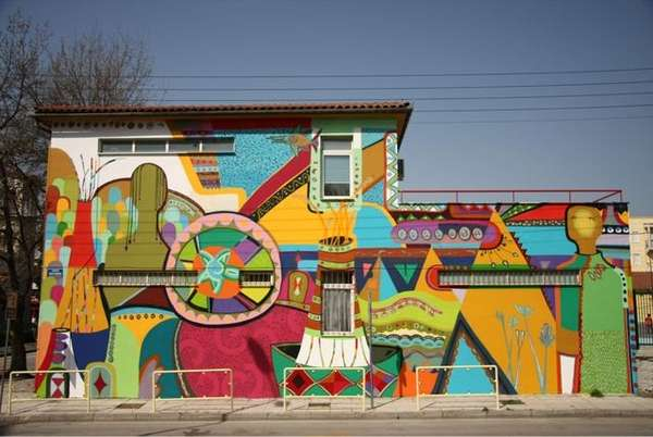 Vibrant Geometric Urban Art