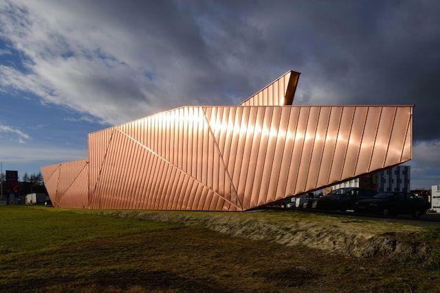 Flame-Inspired Copper Facades