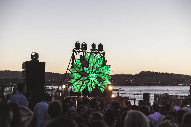 Illuminated Music Festival Flowers