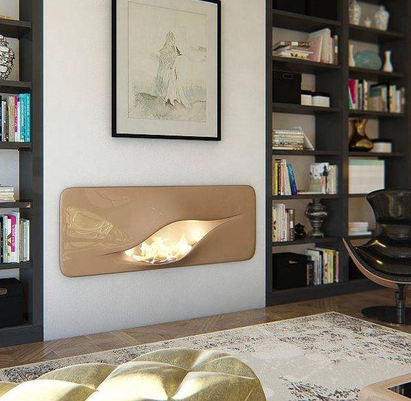 Futuristically Fluid Fireplaces