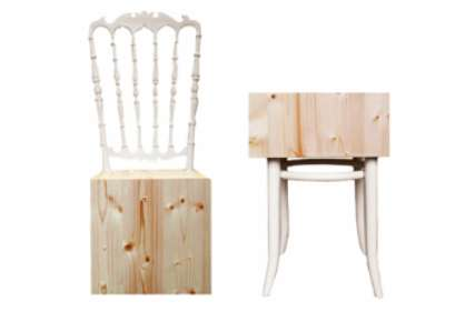 Unwhittled Wooden Chairs