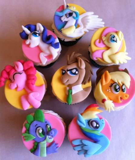 Magic Pony Character Cupcakes