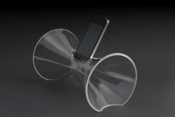 Modernist Glassblown Smartphone Amplifiers